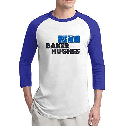 Sport Grunge Baker Hughes Logo 3 4 Sleeve Raglan Baseball Tee For Man Xxl