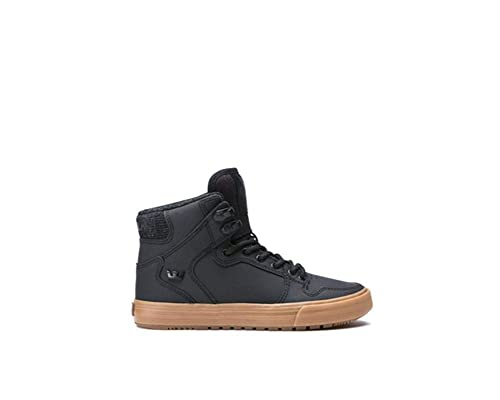 aca4a3d8985 Supra Children Kids Vaider Cold Weather Black Gum Shoes Size 1