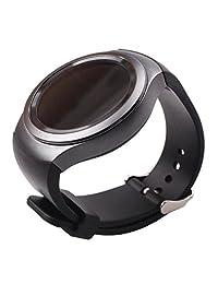 SODIAL(R) Luxury Silicone Watch Band Strap for Samsung Galaxy S2 Gear SM-R720 Black