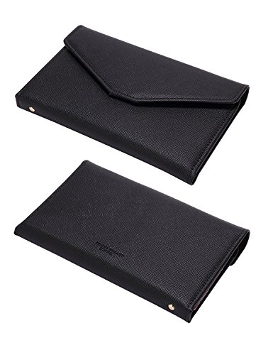 41K1tNVV79L - Zoppen Multi-purpose Rfid Blocking Travel Passport Wallet (Ver.4) Tri-fold Document Organizer Holder, 1 Black