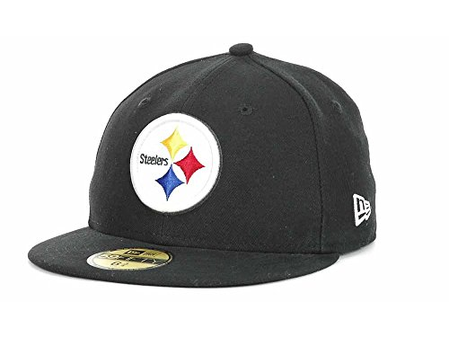 NFL Child Pittsburgh Steelers On Field 5950 Black Game Cap By Era from New Era Cap Company
