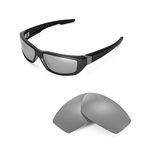Walleva Replacement Lenses for Spy Optic Dirty MO Sunglasses - Multiple Options Available (Titanium Mirror Coated - Polarized)