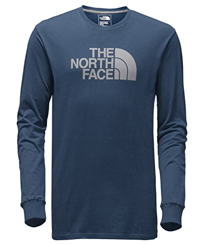 The North Face Men's Long Sleeve Half Dome Tee,Shady Blue/Mid Grey,US (Patagonia Long Sleeve)
