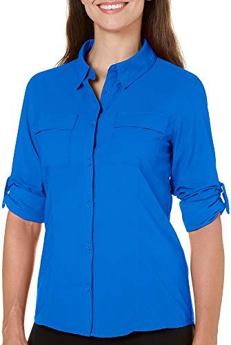 0d387b16 Reel Legends Womens Saltwater Long Sleeve Shirt Large Money Blue