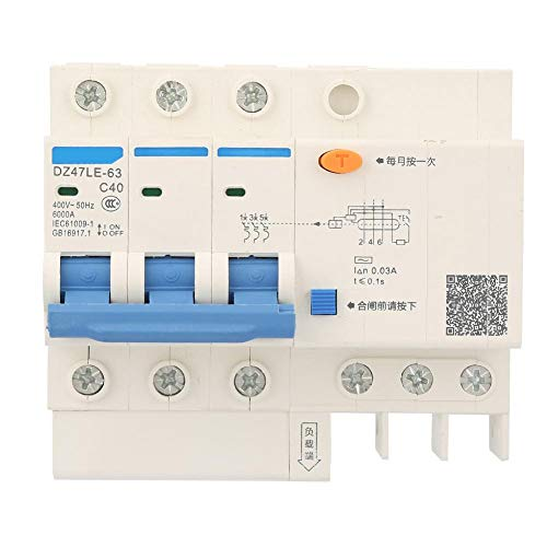 電流遮断器400V/40A漏電保護スイッチDZ47LE-63 C40 3P電流遮断器