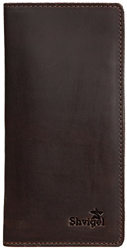 f5aa3fc510fc8 Shvigel Long Bifold Wallet for Men and Women - Soft Genuine Leather - Checkbook  Holder Organizer