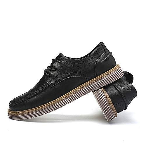 semplicit suola da la uomo shoes slitta Scarpe con retro Jiuyue intagliata d'affari 2018 qO4AA6