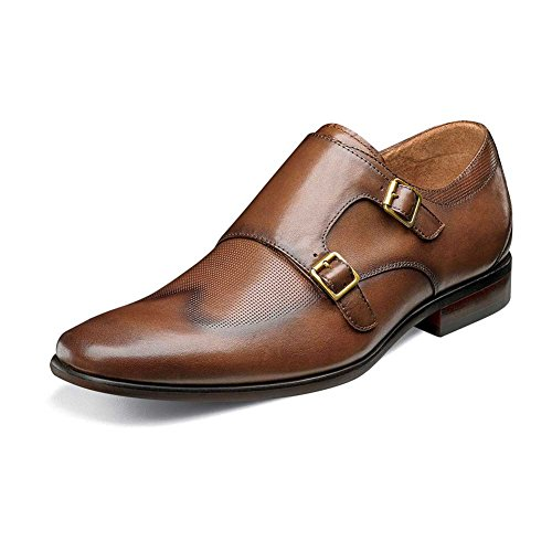 Florsheim Hombres Postino Double Monk Strap Cognac Smooth / Perf