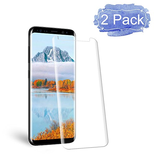 Galaxy S8 Screen Protector, Auideas [Error Proof Bubble Free] Tempered Glass Film Screen Protector for Samsung Galaxy S8 [2 Pack]