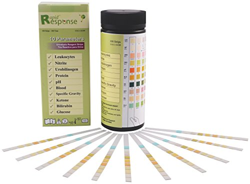 (Rapid Response U10.1-1S100 10 Para (10SG) Urinalysis Reagent Test Strips (Pack of)