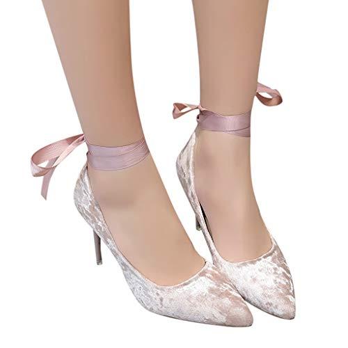 aiguille Women Elegant hauts talons bleu rouge High Talons Strap Ankle Thin pompe à pompes talon Stiletto noir Sunnywill rose wS5pOqxdnw