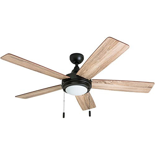Honeywell 50607-01 Ventnor Farmhouse Ceiling Fan, 52 Rustic Barnwood Decor, Gilded Espresso