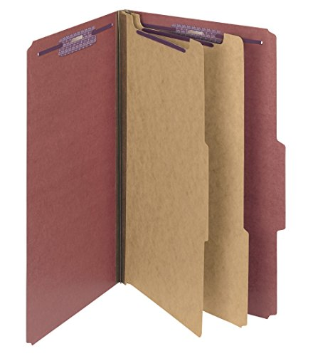 Pressboard 2 Divider (Smead Pressboard Classification File Folder with SafeSHIELD Fasteners, 2 Dividers, 2