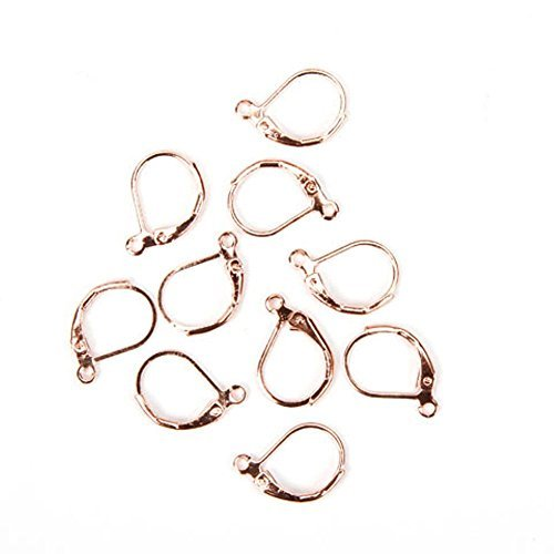 (French Clip Earrings - Rose Gold - 10 pieces/pkg)