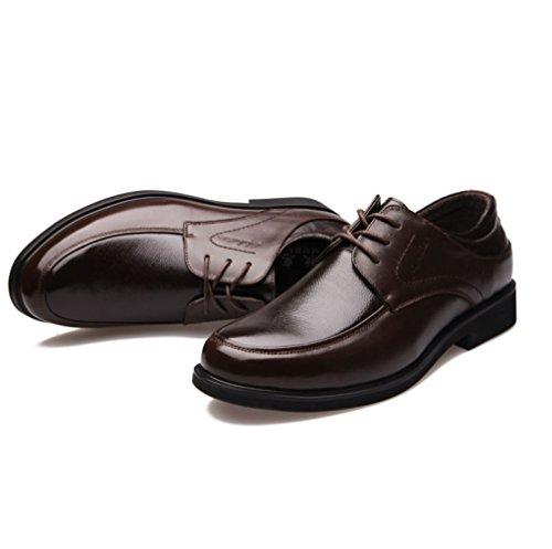 Chaussures Brown pour Simples Hommes en Chaussures Formelles Chaussures Basses Cuir Véritable Chaussures LEDLFIE Hommes pour nqwYTpxB