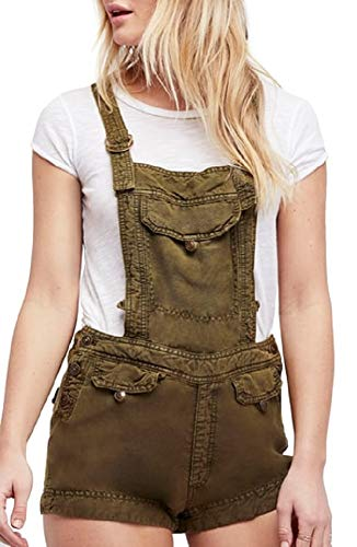 Blue Pant Expedition (Free People Expedition Short Overalls Army XS)