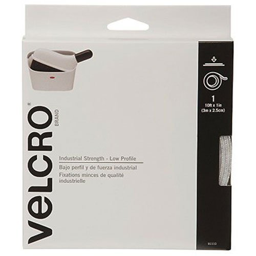 "VELCRO Brand - Industrial Strength Low Profile - 10' x 1"" Tape - White"