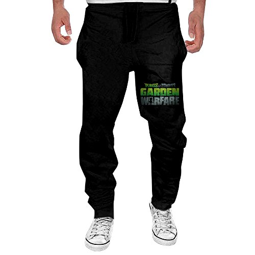 - Xianggu Men Plants Vs.Zombie Garden Warfare Logo Open-Bottom Sweatpants 3X