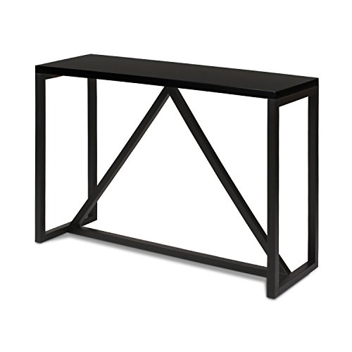 Table Console Black (Kate and Laurel Kaya Wood Console Table, Black)