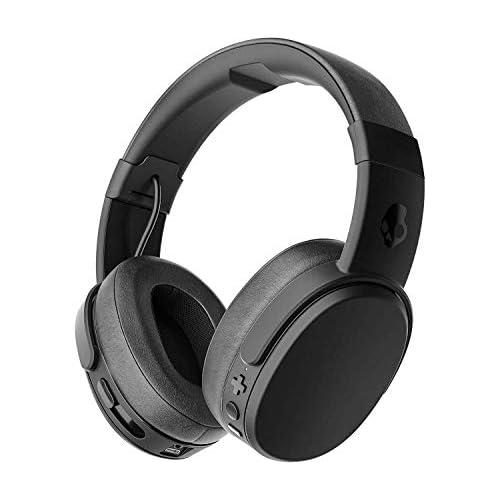 chollos oferta descuentos barato Skullcandy Crusher Over Ear Bluetooth Auriculares Inalámbricos con Micrófono Espuma Viscoelástica con Aislamiento de Ruido Estéreo Ajustable Batería con 40h de Duración Negro