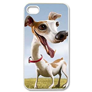 Cartoon dog Customized Cover Case with Hard Shell Protection for Iphone 4,4S Case lxa#970031