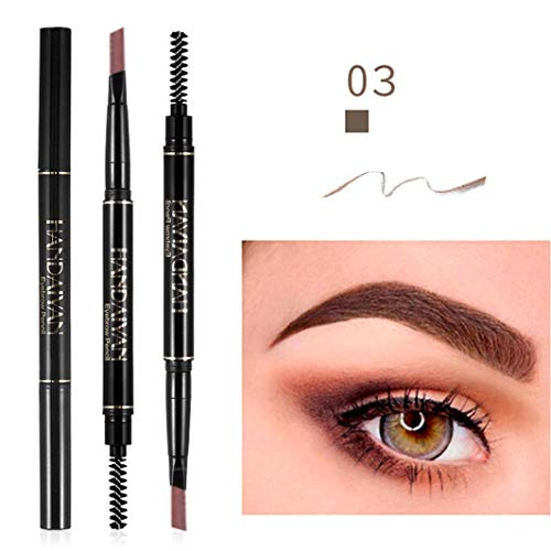 Sketch eyebrow pencil waterproof fork tip eyebrow tattoo Dream_mimi eyebrow pencil waterproof double eyebrow pencil (medium coffee)