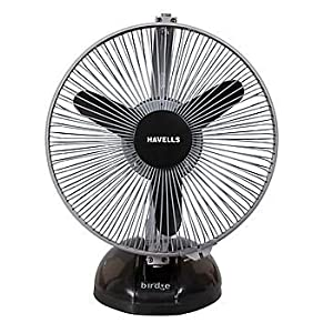 Havells Birdie 230mm Personal Fan (Black Grey)