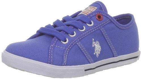 US Polo Assn - Zapatillas de deporte de tela para niños Azul (Bleu (Blu))