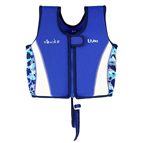 OldPAPA Kinder Schwimmweste für Kleinkinder, Schwimmjacke Baby Schwimmende Badeanzug mit Schrittgurt 1-6 Jahre/15-50lbs