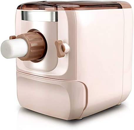 パスタ機 ホーム用麺機を押し麺機家庭自動家庭用餃子スキニングマシン パスタマシン (色 : Pink, Size : 43.2X29.5X33.7cm)