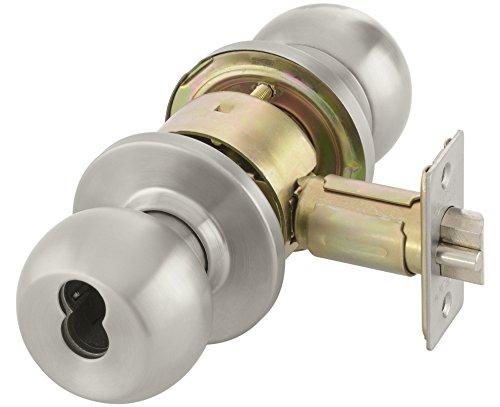 Yale BCA 4605 630 SFICLC Cylindrical Knob Lockset, Grade 2, Storeroom Function, SFIC Cylinder Prep, Less Cylinder, 2 3/4