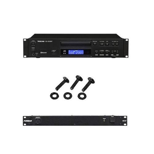- Tascam CD-200BT Rackmount CD Player with Bluetooth Receiver, With Furman Sound Merit Series M-8X2 Power Conditioner, Set of Rackrail Screws & Washers, 25 Pieces