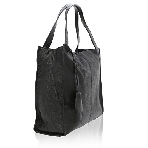 Véritable Femme Cuir Noir 36 Sac Porté in cm 10 40 Florence pour épaule Made 8tw4Uq6an