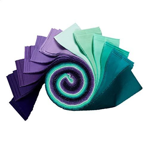 (Robert Kaufman Kaufman Kona Cotton 2.5'' Roll Ups 40 Pcs Aurora)