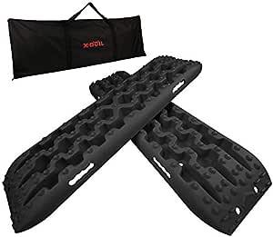 X-BULL Recovery Tracks/Sand Tracks/Mud Tracks/Off Road 10T 4WD Black 4X4 4WD
