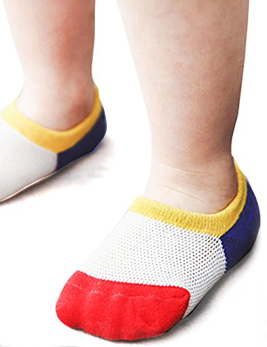 BabaMate 6 Pairs Baby Toddler Little Kids No Show Socks - Thin Mesh Cotton Athletic Socks for Boys Girls