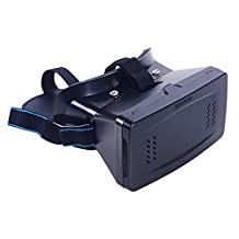 Zomtop 3D VR Virtual Reality Headset 3D VR Glasses with for 3.5-6 Inches iPhone 6, iPhone 5s iPhone 5,iphone 4, Samsung Galaxy S3 S4, Note 3 Note 4,LG etc. 3D Games Google Cardboard Style