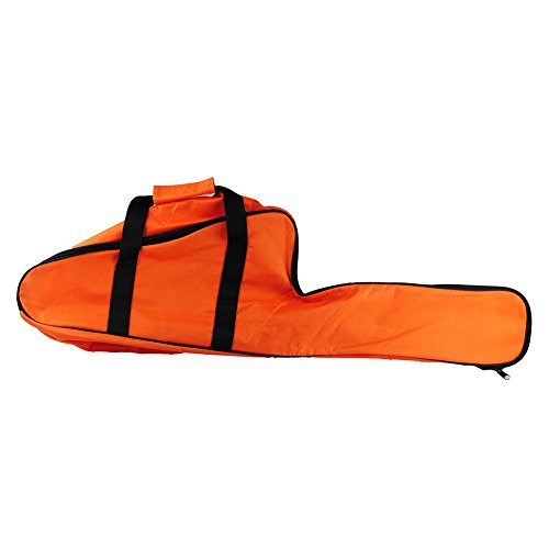 (Poweka Chainsaw Bag Carrying Case Portable Protection Waterproof Holder Fit for Stihl & Husqvarna 12''/14''/16'' Chainsaw Storage Bag(Orange))