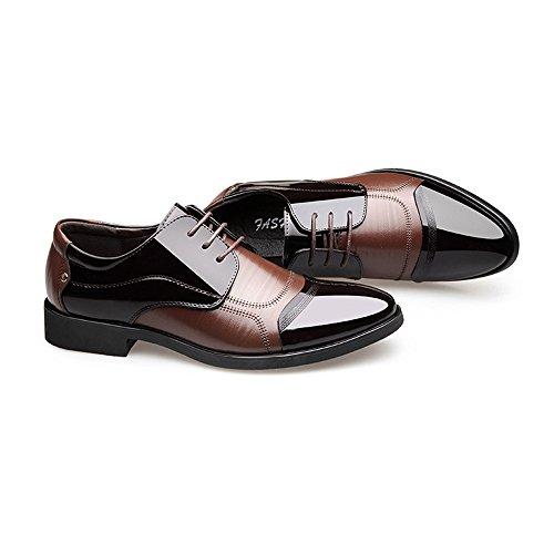 Dimensione traspirante pelle Scarpe shoes uomo Scarpe da Nero Pelle Giunture EU formali Marrone liscia lavoro da e in 42 Color Xiaojuan Uomo lacci con qPwRw