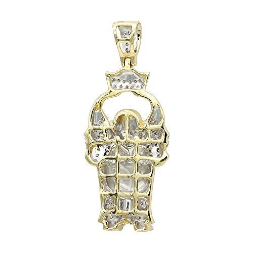 Mens 10K Real Gold Mini Laughing Buddha Diamond Pendant 0.3ctw (Yellow Gold) by JNSLuxury (Image #1)