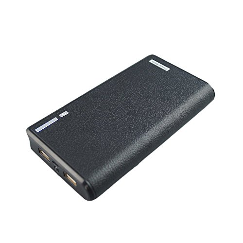 LQM 20000mAh Dual USB External Battery Backup Power Bank for Apple iPhone 6, 6 Plus 5S 5C 5 4S 4,iPad Air Mini 2, HTC One, One 2 (M8), Samsung Galaxy S6 Edge, S6 S5 S4 S3, Tab 4 3 2 Pro (black)