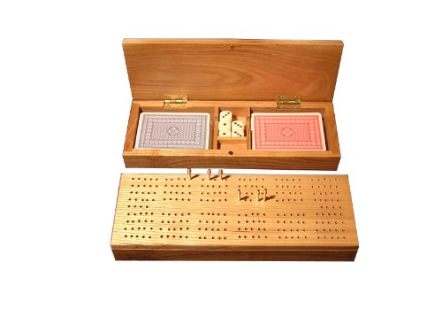 Cribbage box with Cards - Cribbage Case