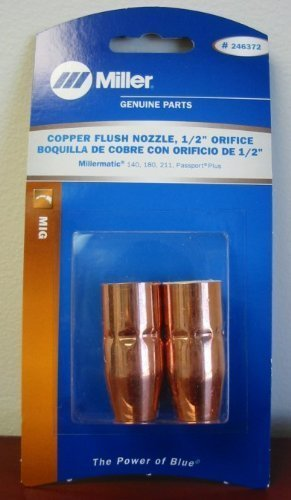Miller Genuine Copper Flush Nozzle, 1/2' orifice for MM140,180,211 2/pk - 246372 1/2 orifice for MM140 Miller Electric