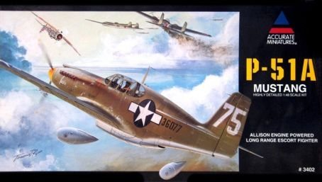 Accurate Miniatures P-51A Mustang 1:48 Scale Military Model Kit