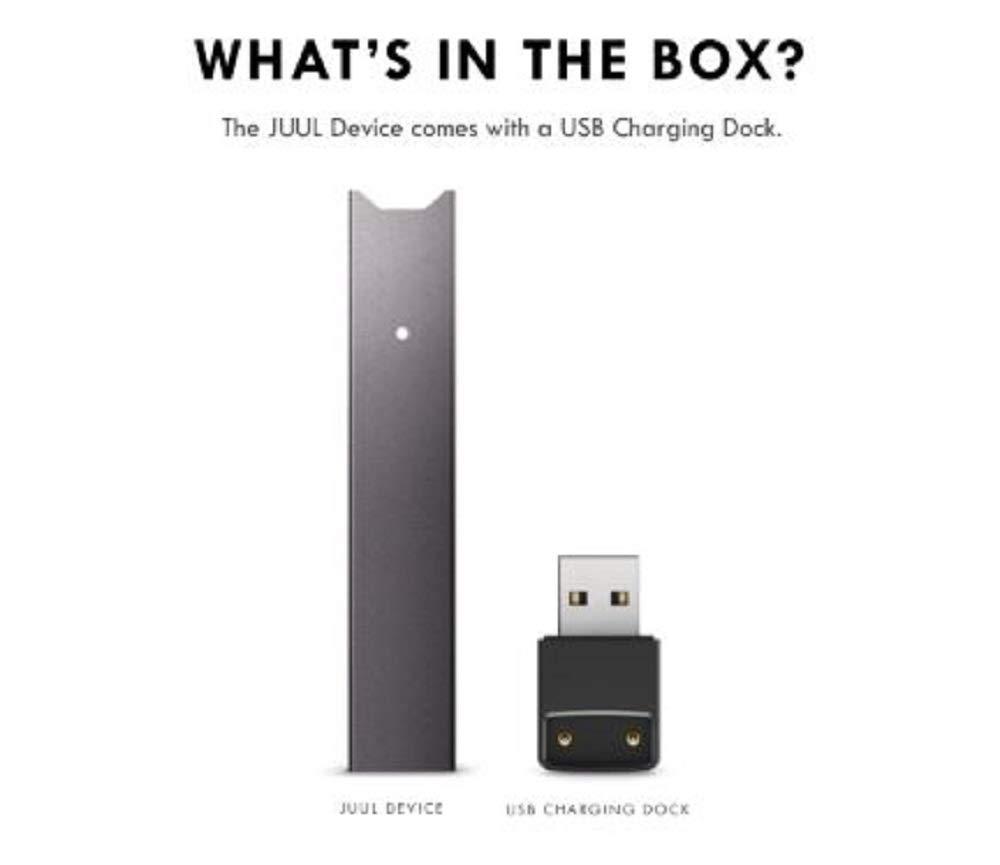 JUUL Device Kit, Slate Grey, E-cigarette (No JUUL Pods included)
