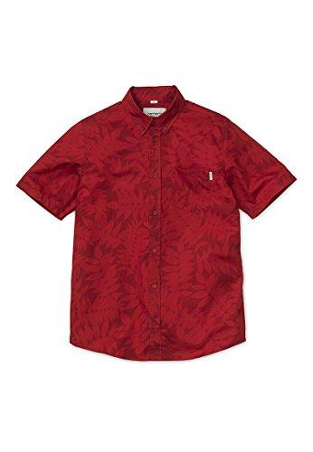 Carhartt Heaven Leaf Kurzarm Hemd Größe: XL Farbe: alab/fir