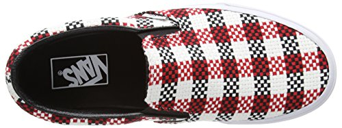Vans Classic Slip-On, Zapatillas Unisex Adulto negro - Black (Checker Plaid - Black/True White)