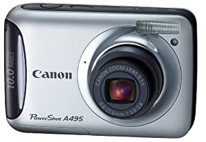 Canon PowerShot A495 10.1 MP Digital Camera with 3.3x Optical Zoom and 2.5-Inch LCD