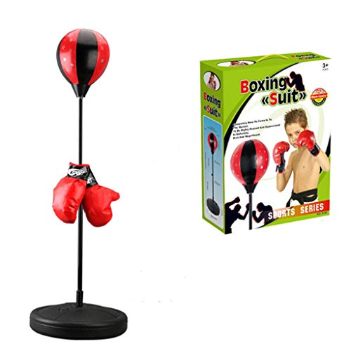 Ktyssp Children's Adjustable Height Vertical Fitness Venting Boxing Speed Ball