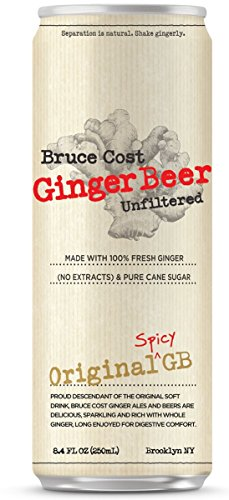Bruce Cost Ginger Beer (24 pack, 8.4 oz can) Alcoholic Ginger Beer